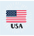 hand drawn usa flag vector image
