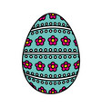 happy easter egg painted vector image