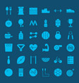 healthy lifestyle solid web icons vector image