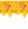 honeycombs background vector image vector image