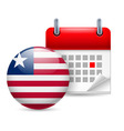 Icon of national day in liberia vector image vector image
