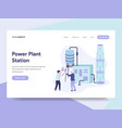 landing page template power plant station vector image vector image