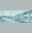 light blue futuristic technology abstract vector image vector image