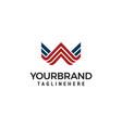 line art monogram creative logo design vector image