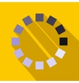 Loading circle sign icon in flat style vector image vector image