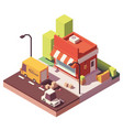 Low poly shop icon