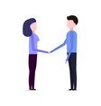 man and girl shake hands vector image