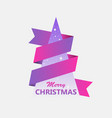 merry christmas greeting card with creative vector image vector image