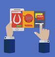mobile application for on line shopping concept vector image vector image