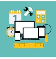 Modern Flat Icon Set for Web and Mobile vector image vector image