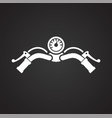 motorcycle bar icon on black background for vector image