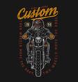 motorcycle vintage colorful emblem vector image vector image
