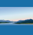 mountain and hills landscape rural skyline lake vector image vector image