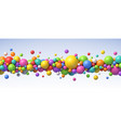 multicolored flying balls background vector image vector image