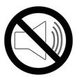 mute symbol vector image