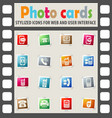 phone icon set vector image vector image