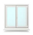 plastic window home window design concept vector image