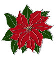 poinsettia in vintage retro style for your vector image vector image
