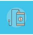 Portable power bank icon vector image