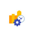 productivity flat icon on white vector image vector image