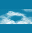 realistic white cumulus clouds on transparent vector image