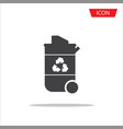 recycle bin icon isolated on white background vector image vector image