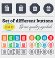 Recycle bin icon sign Big set of colorful diverse vector image