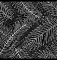 seamless pattern background with tropical plants vector image