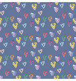 seamless pattern of hearts in watercolor style vector image