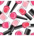 seamless pattern with nail polishes vector image vector image