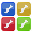 set of four square icons with gnawed chicken leg vector image vector image
