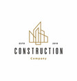 simple abstract city building real estate logo d vector image vector image