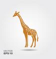 simple icon a giraffe vector image vector image