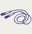 Skipping rope vector image vector image
