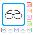 spectacles framed icon vector image vector image