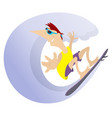 surfing man isolated cartoon vector image