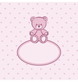 Teddy bear frame vector image