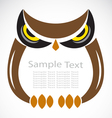 The design of the owl vector image vector image
