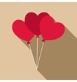 Three hearts icon flat style vector image vector image