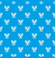 tin opener pattern seamless blue vector image vector image
