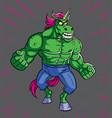 unicorn rage vector image vector image