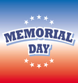 us memorial day banner on red and blue background vector image vector image