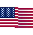 usa big waving flag on white background vector image