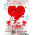 Valentine Day Background for party banner vector image vector image