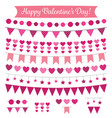 valentines day decoration and design elements set vector image vector image