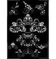 Collection white flourishes patterns vector image