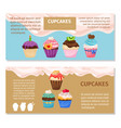 online shopping muffin flyers design vector image