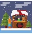 Christmas market flat vector image