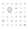 33 label icons vector image vector image