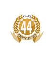44 years ribbon anniversary vector image vector image